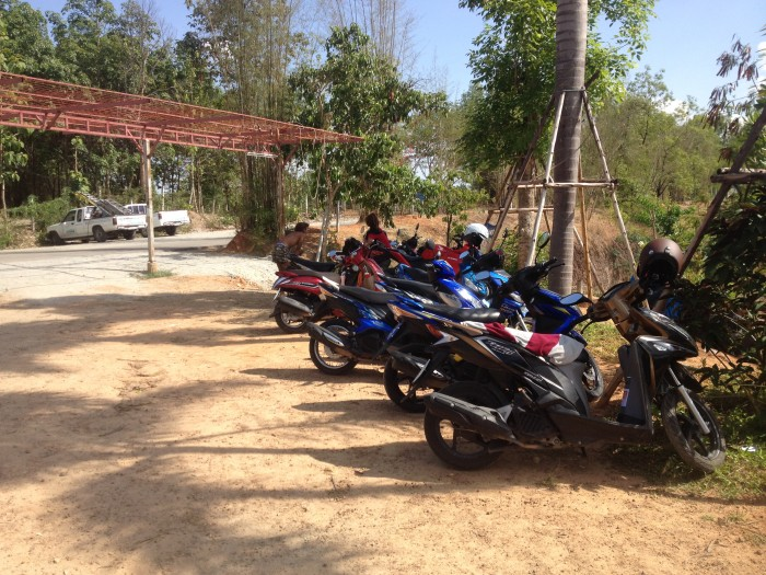 Chiang Mai Rock Quarry Motorbike Parking