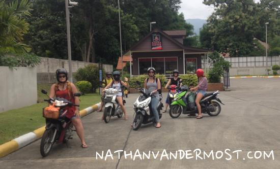 Motor bike pit stop