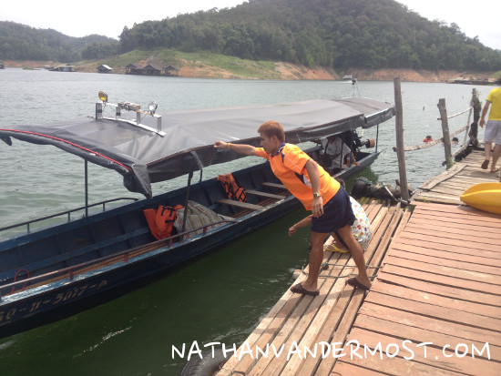 Mae Ngat Dam Long Tail Boat
