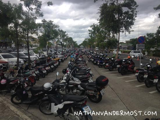 Chiang Mai Airport Motorcycle Parking Lot