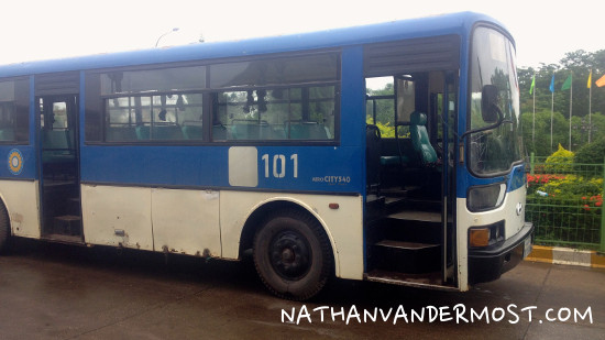 Nong Khai Friendship Bridge Bus
