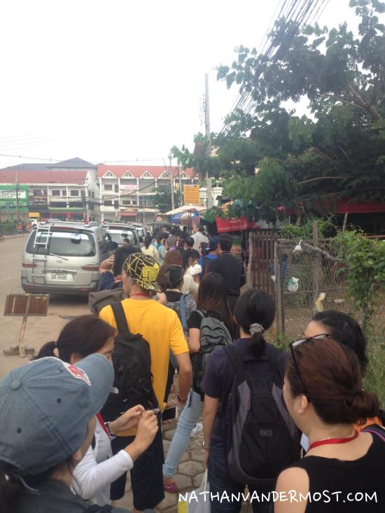 Vientiane Thai Consulate Visa Line