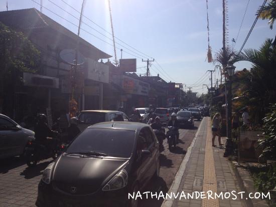 Downtown Ubud Traffic