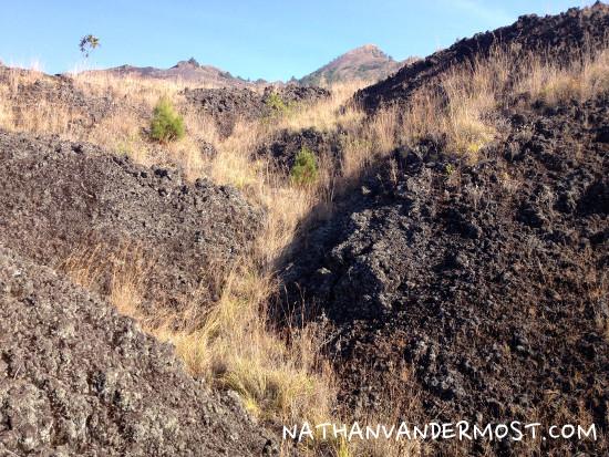 Mount Batur Rocky Terrain