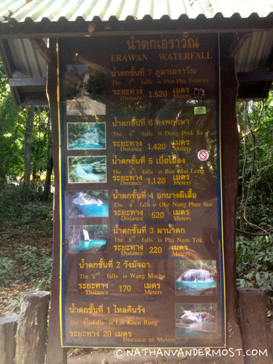 4_Hiking_Through_Erawan_Waterfalls