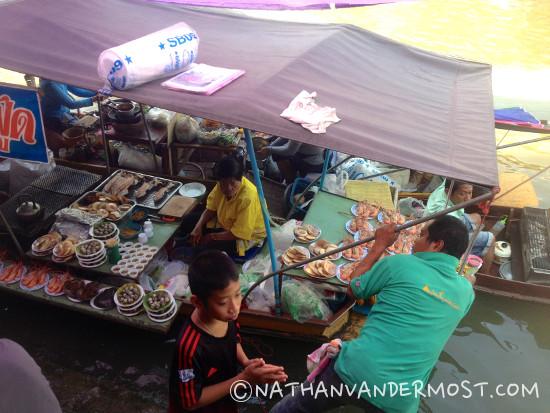 Amphawa Floating Market Food Vendor