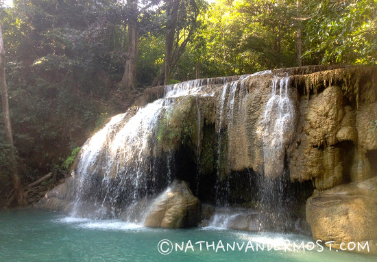 7 Hiking Through Erawan Waterfalls