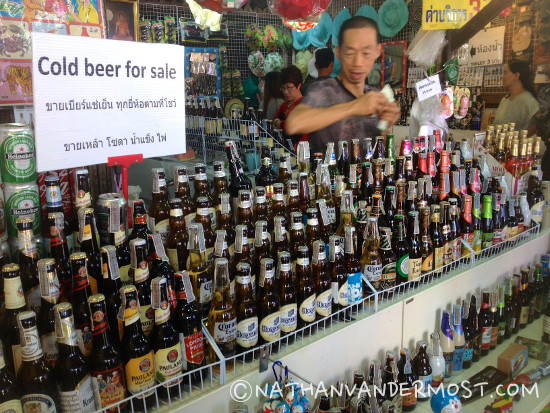 Amphawa Floating Market Beer Seller