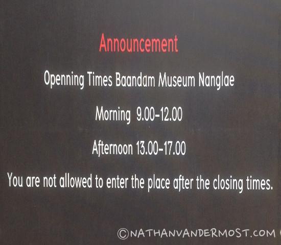 Baan Dam Chiang Rai Opening Hours