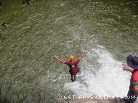 Canyoning Dalat Cliff Jump