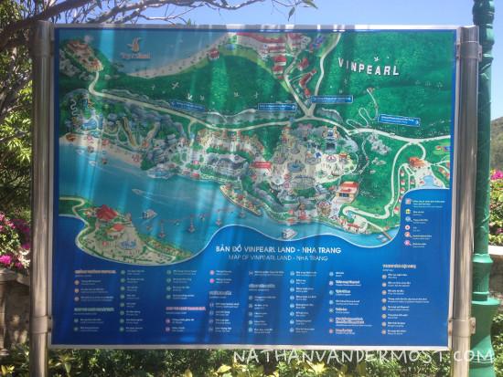 Map of Vinpearl Land, Nha Trang
