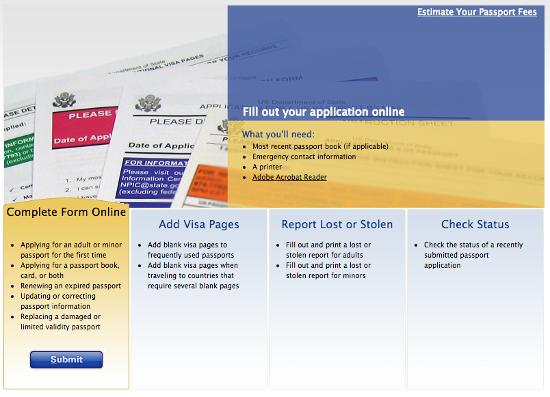 Online US Passport Application