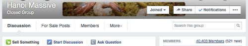 Hanoi Massive Facebook Group