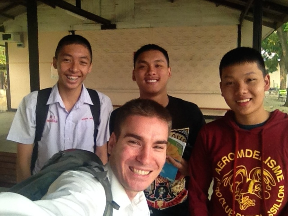 Selfie With Thai Students