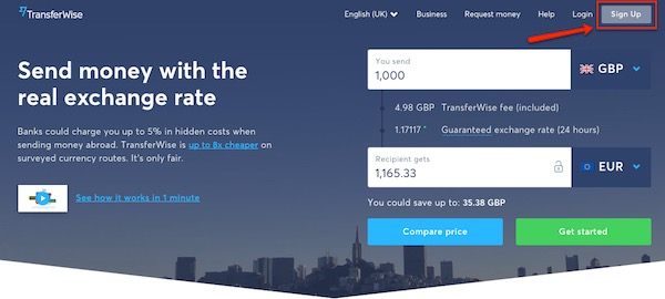 Transferwise-sign-up-button